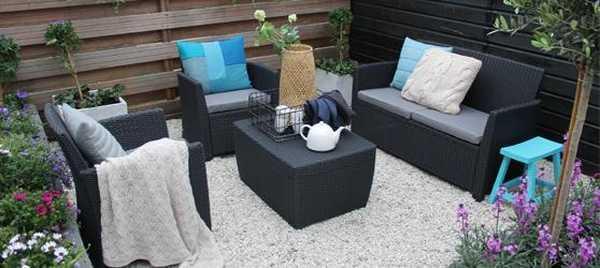 Комплект пластиковой мебели Corona set with cushion box