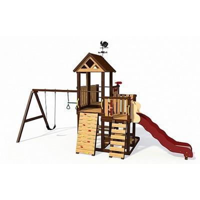 Игровой комплекс из термообработанной древисины