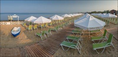 Пляжный зонт диаметром 4 м., круглый