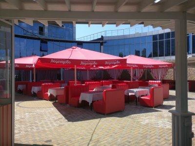 Зонт для кафе телескопический 4х4 м.