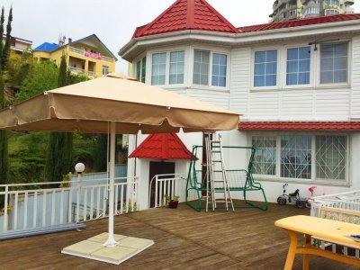 Пляжный зонт телескопический 3х3 м., квадратный с центральной стойкой. Изготовитель зонта компания Курортснаб.