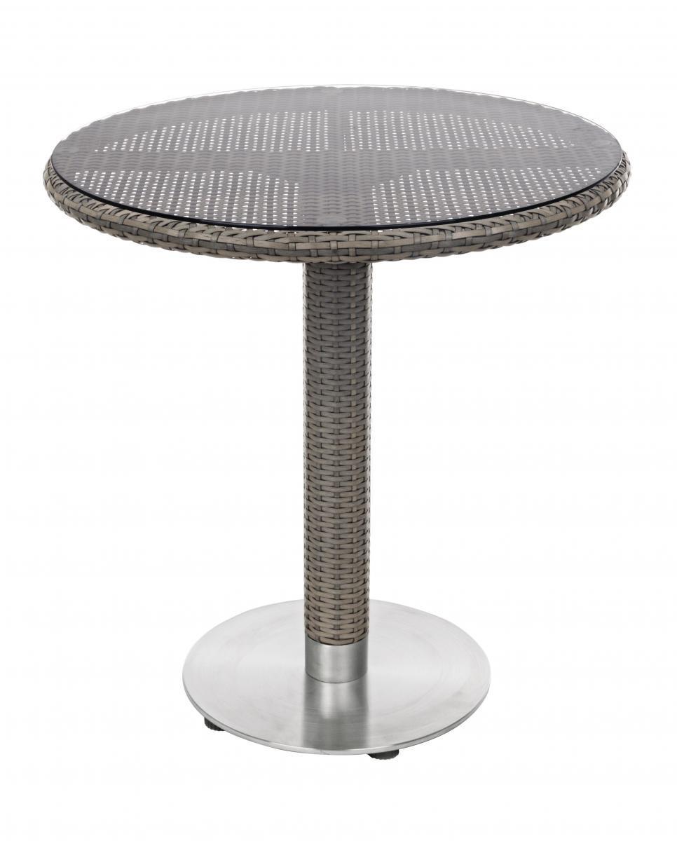 Стол плетеный со стеклом Wessex