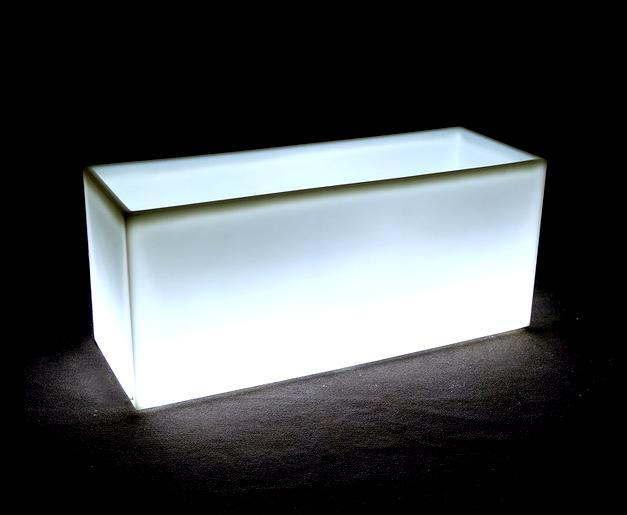 Кашпо пластиковое светящееся Long