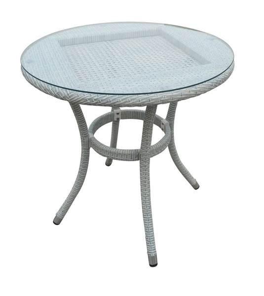 Стол плетеный со стеклом Alice