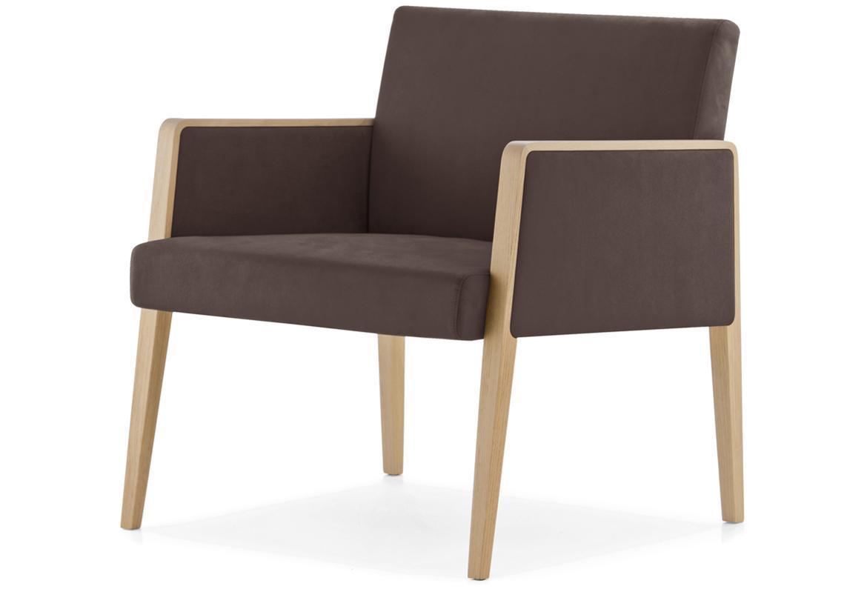 Кресло деревянное мягкое Lounge Jil