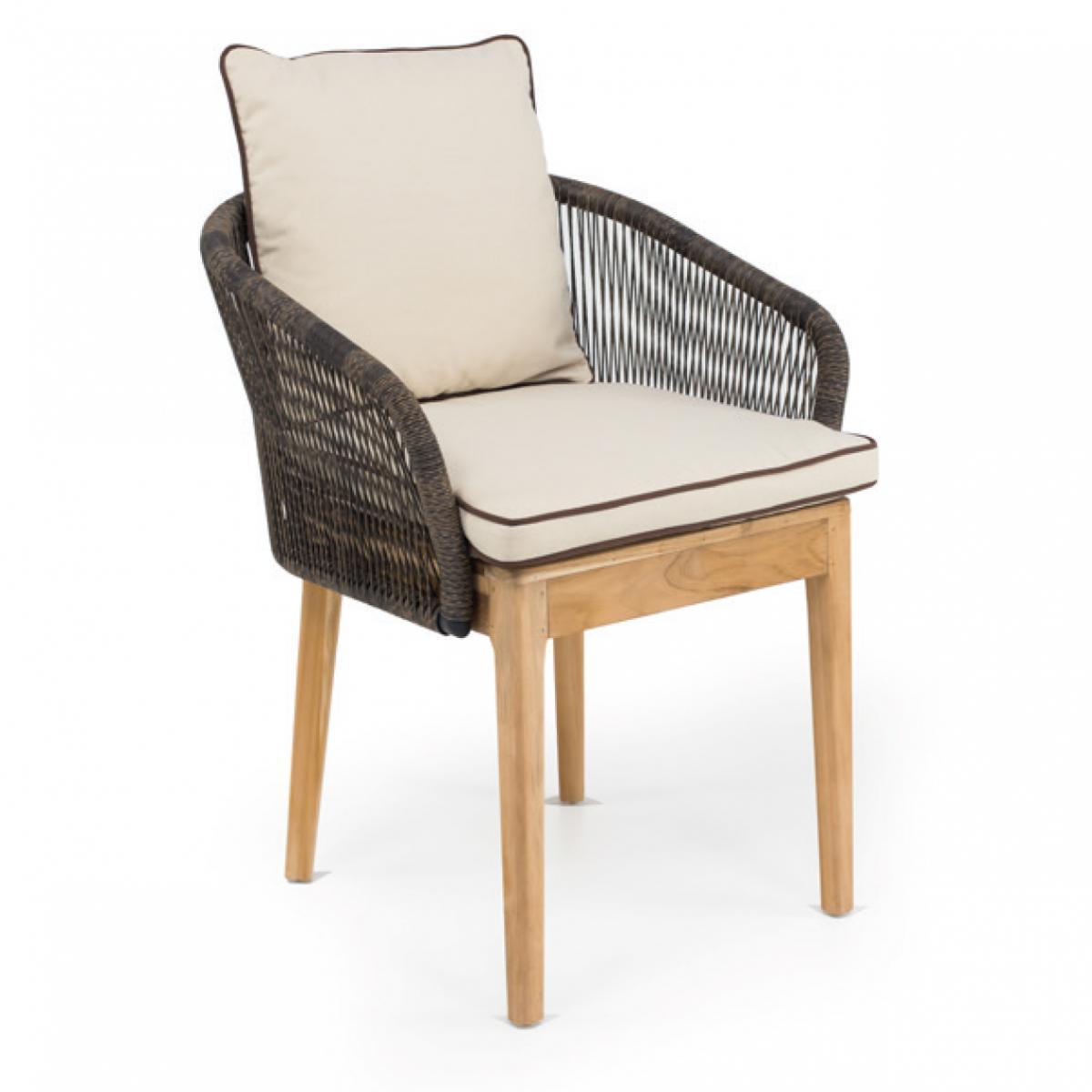 Кресло плетеное с подушкой Dakota
