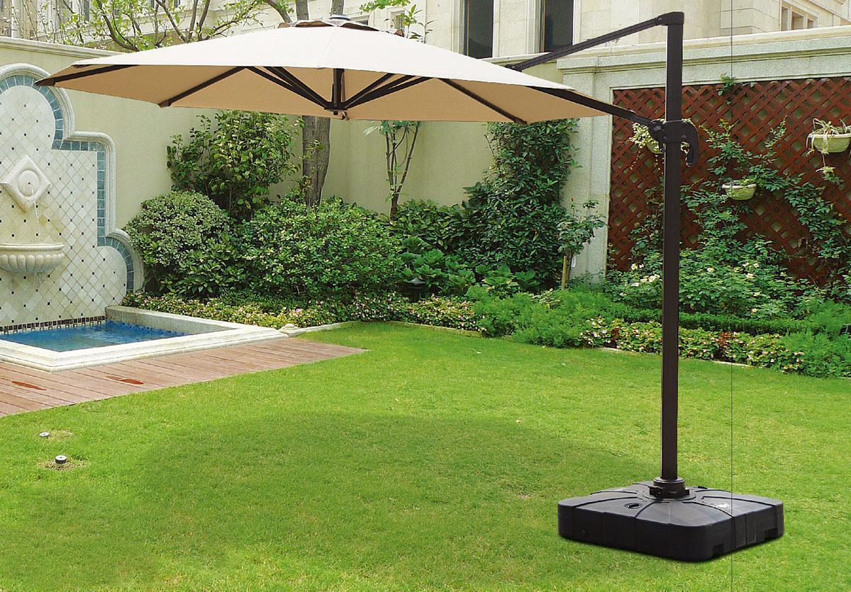 Зонт круглый садовый, бежевый, 3500x3500, Rent, Garden