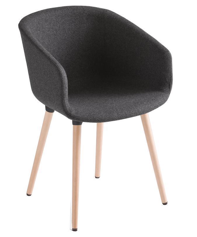 Кресло с обивкой Basket Chair BL