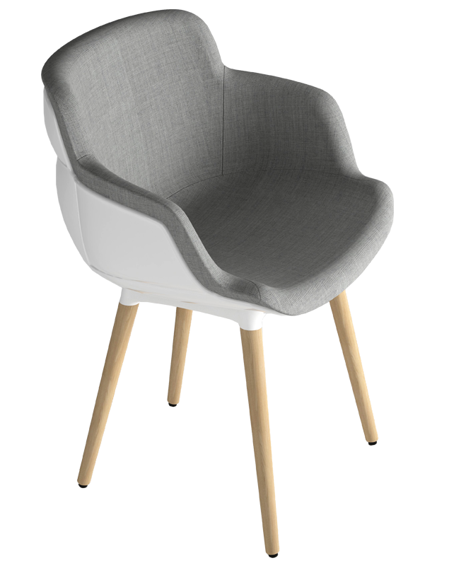 Кресло с обивкой Choppy Sleek BL
