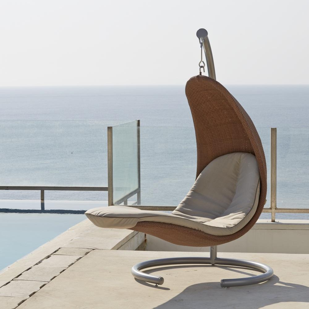 Кресло плетеное подвесное Ebony/Cuatro/Christy