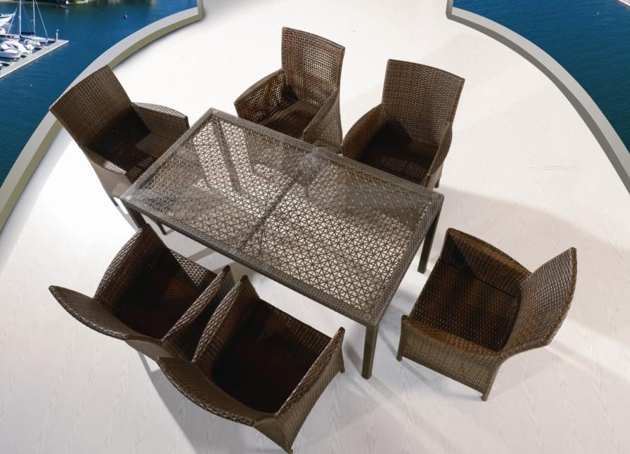 Стол плетеный обеденный Forano