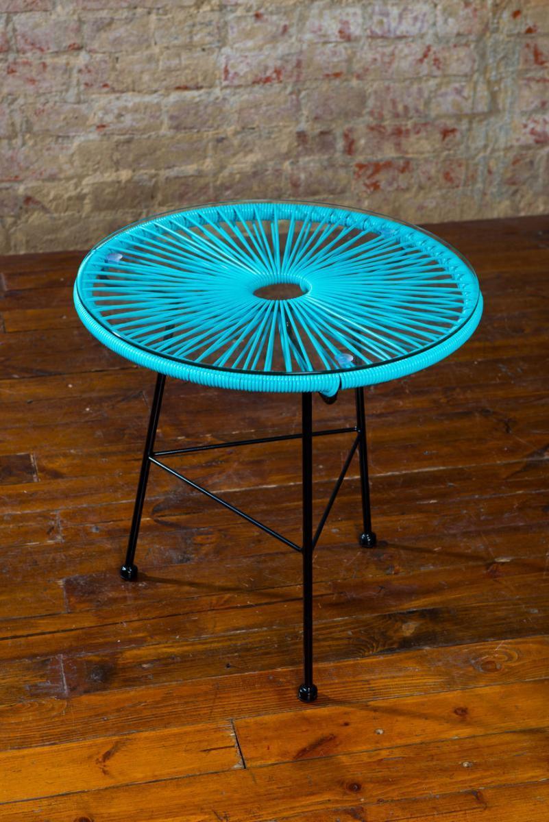 Стол плетеный со стеклом журнальный Acapulco