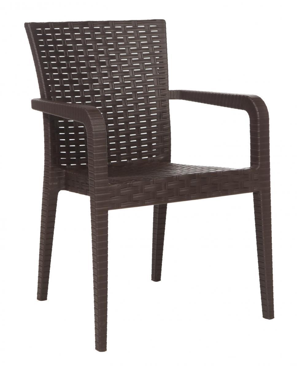 Кресло пластиковое Alberta Rattan Armchair