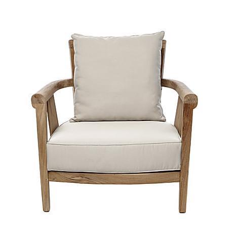Кресло деревянное без подушки Saint Laurent