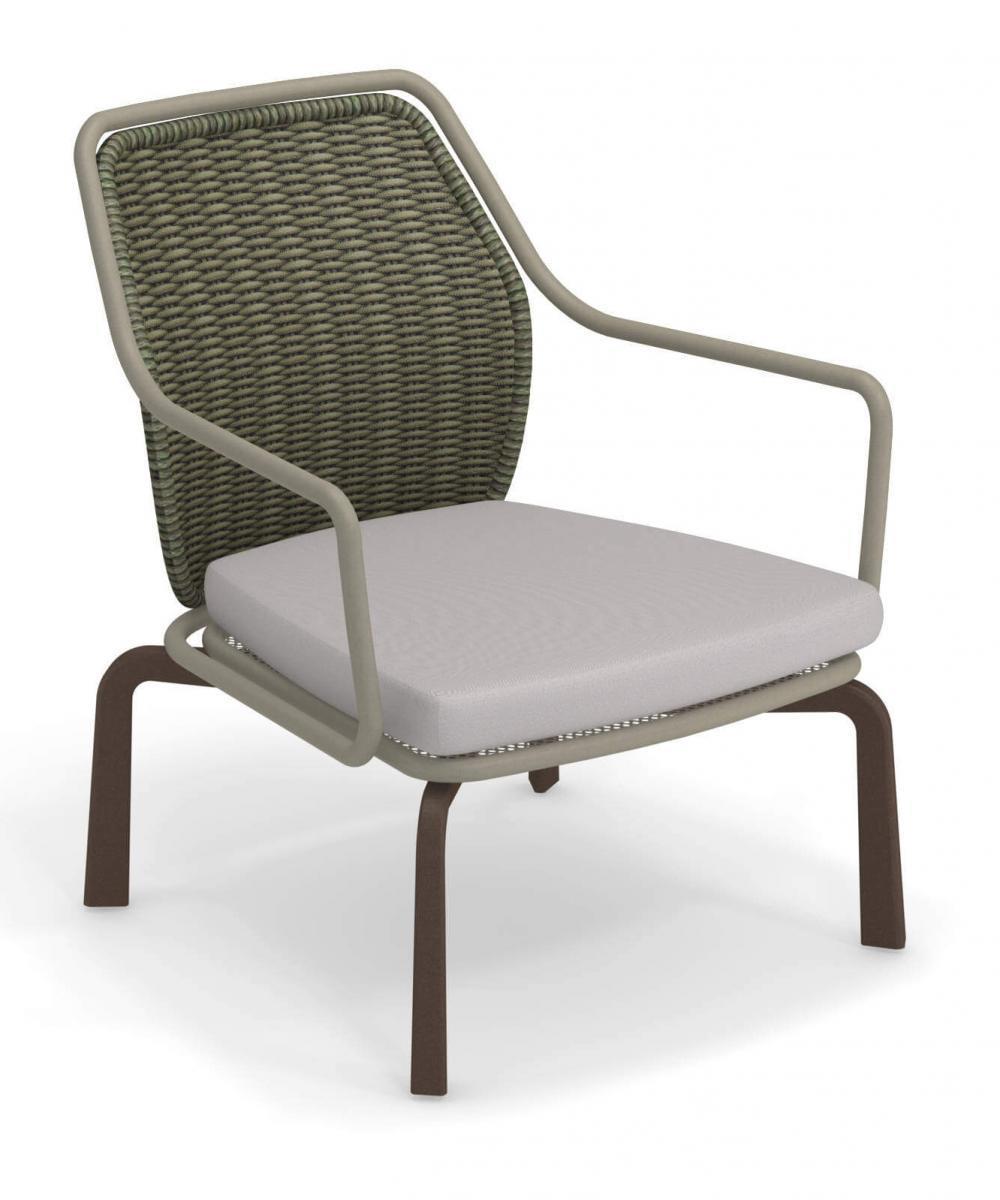 Кресло плетеное с подушкой Cross