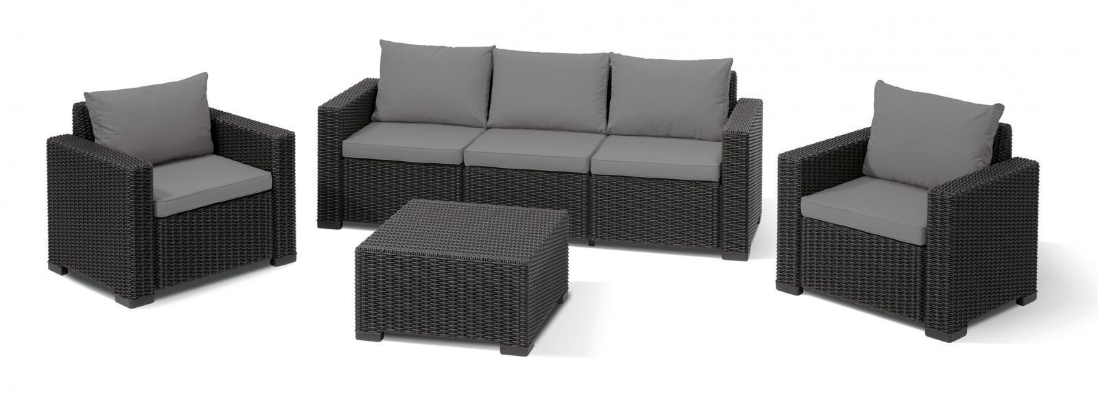 Комплект пластиковой мебели California 3 seater set