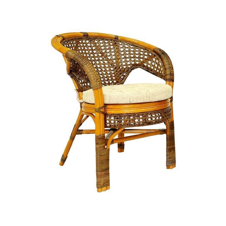 Кресло плетеное с подушкой Пеланги