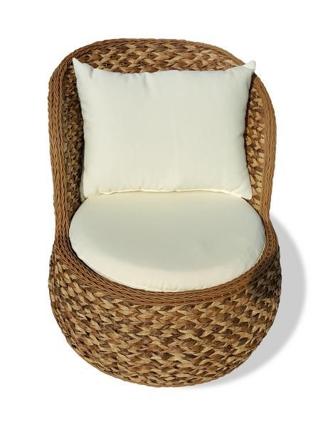 Кресло плетеное с подушками Antibes