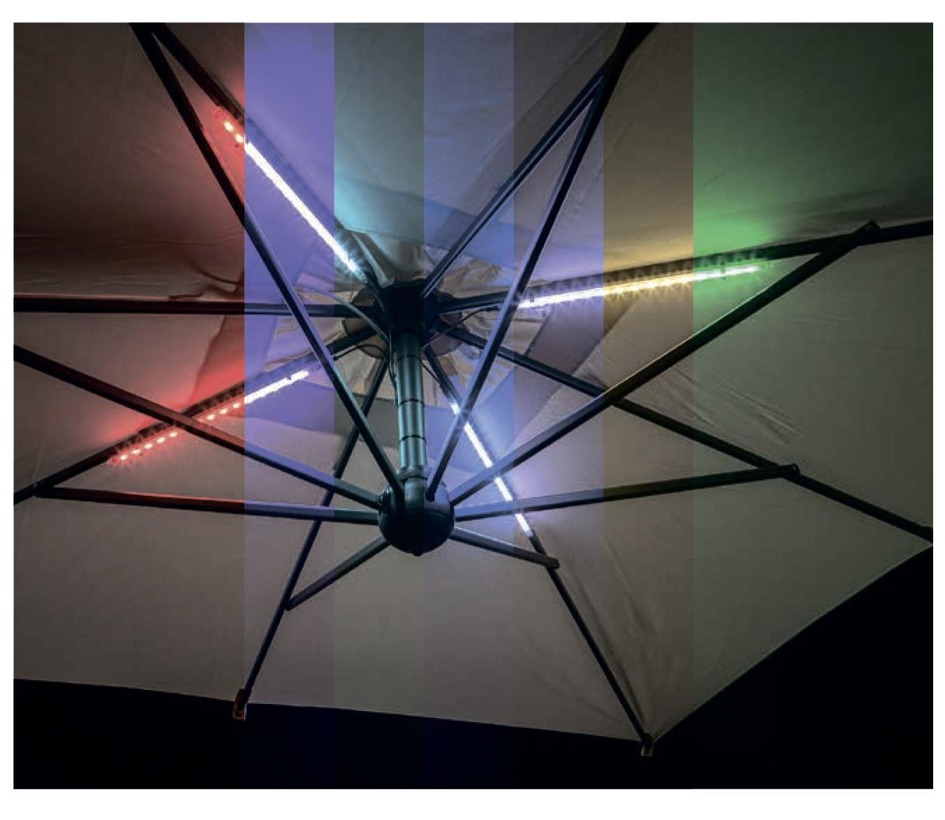 LED светильник для зонта (от батареи)