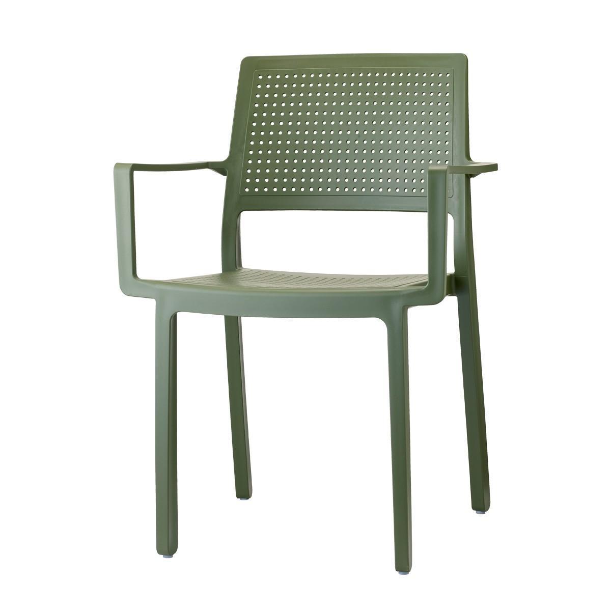 Кресло пластиковое Emi with armrests