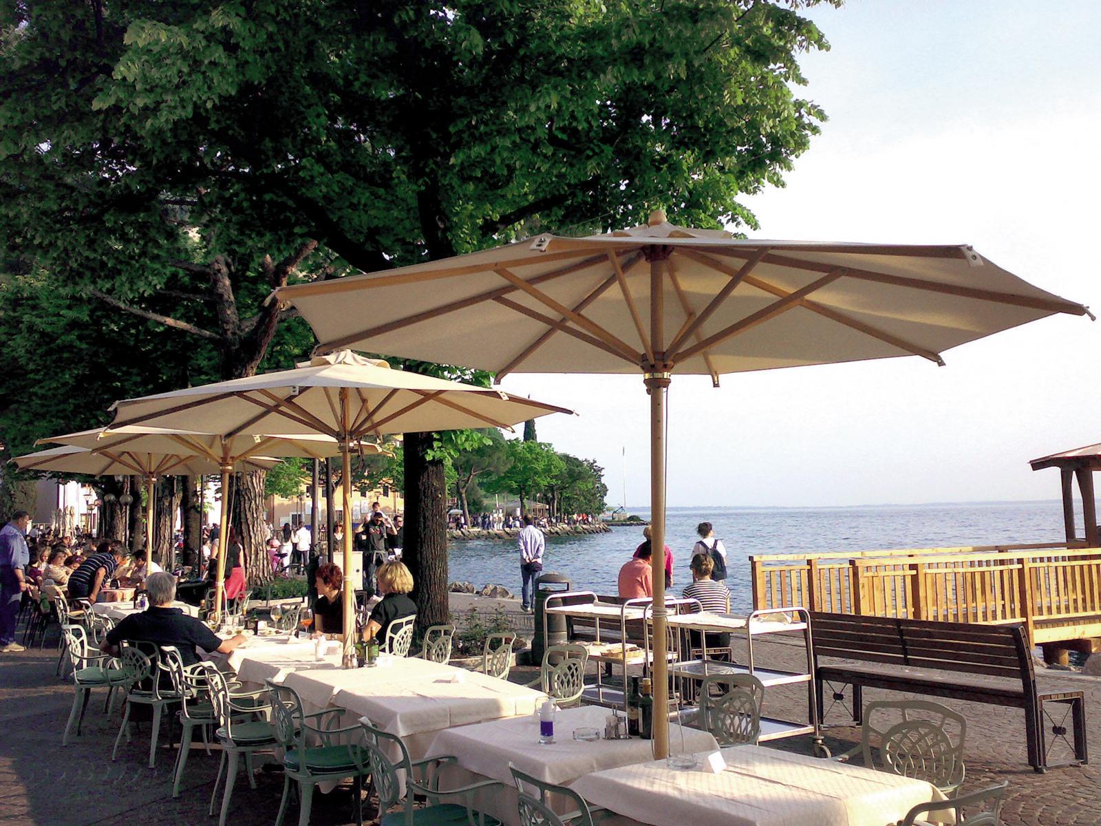 Зонт профессиональный Dolomiti Wood Iroko