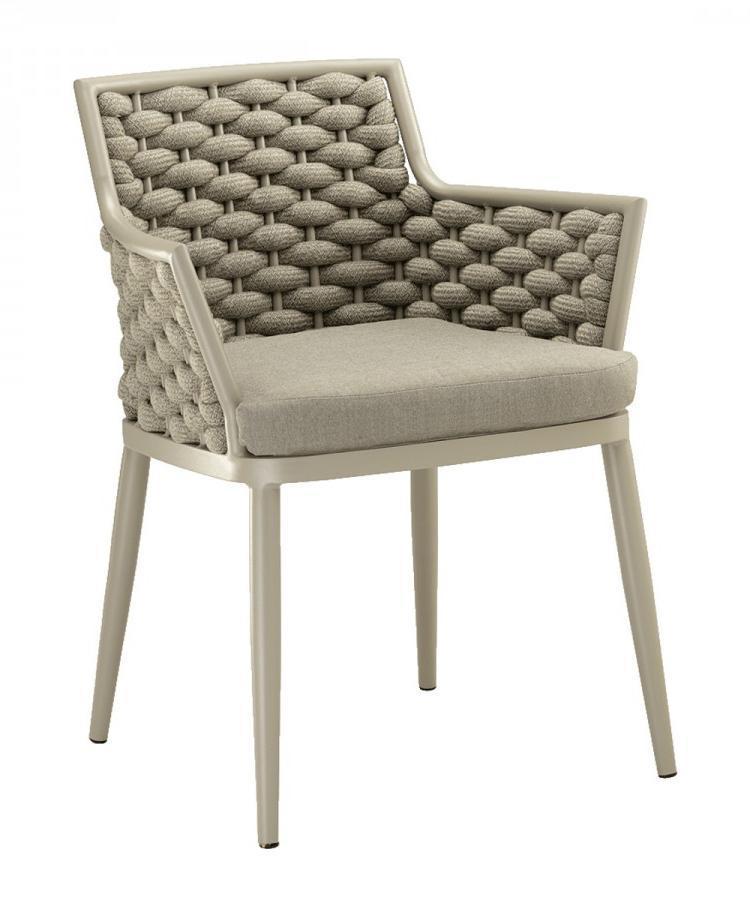 Кресло плетеное с подушкой Leon