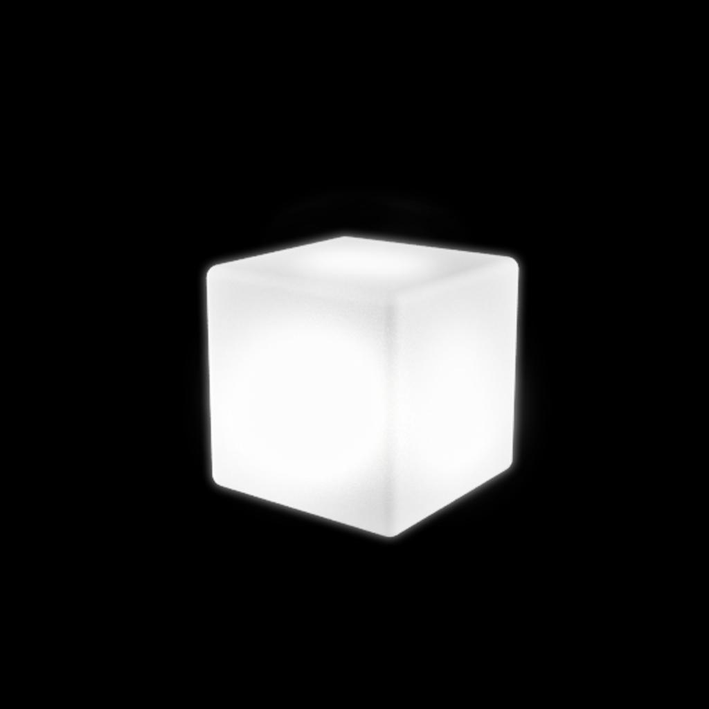 Куб пластиковый светящийся Piazza