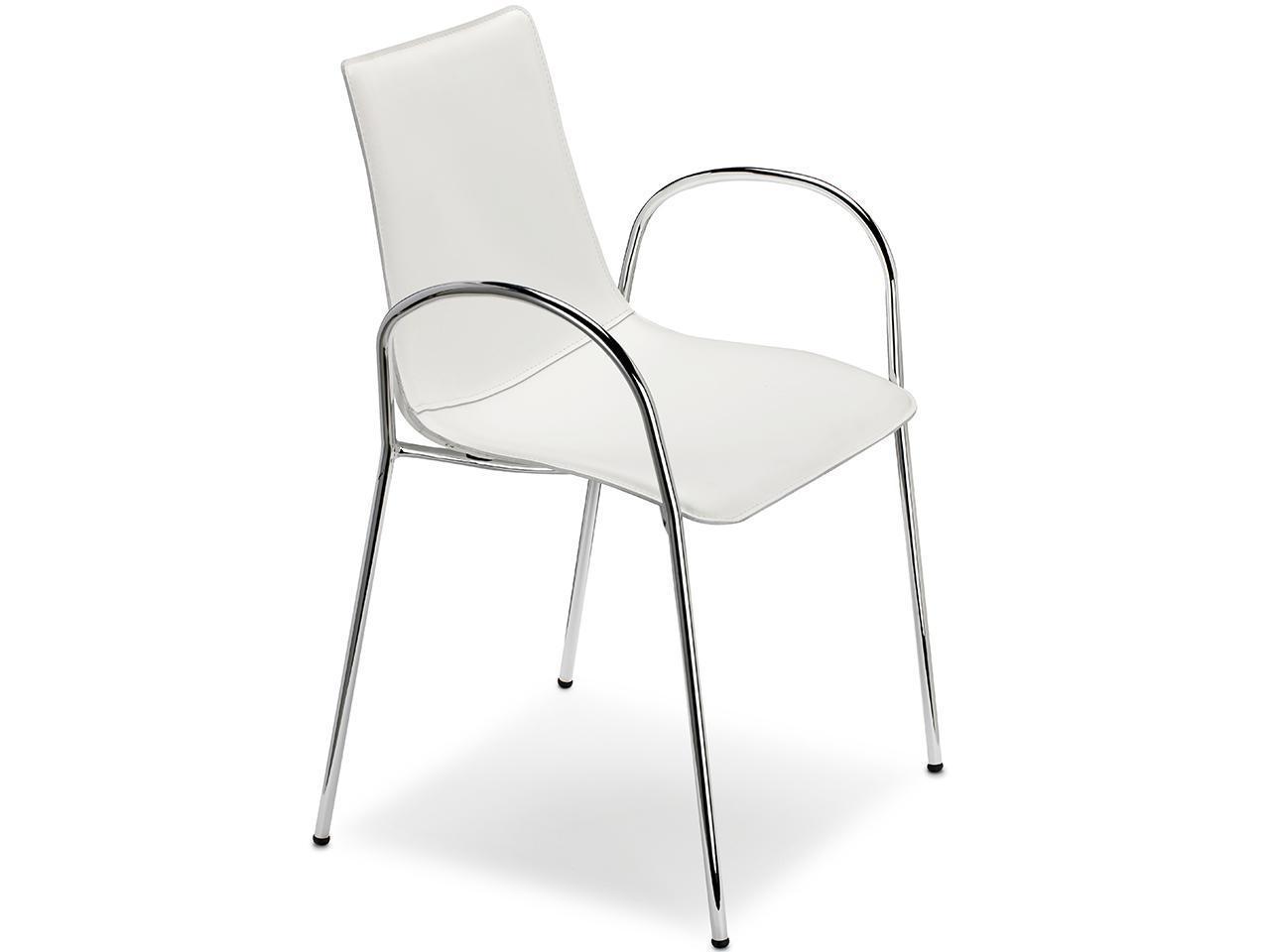 Кресло пластиковое с обивкой Zebra Pop armchair with underseat shell for stacking