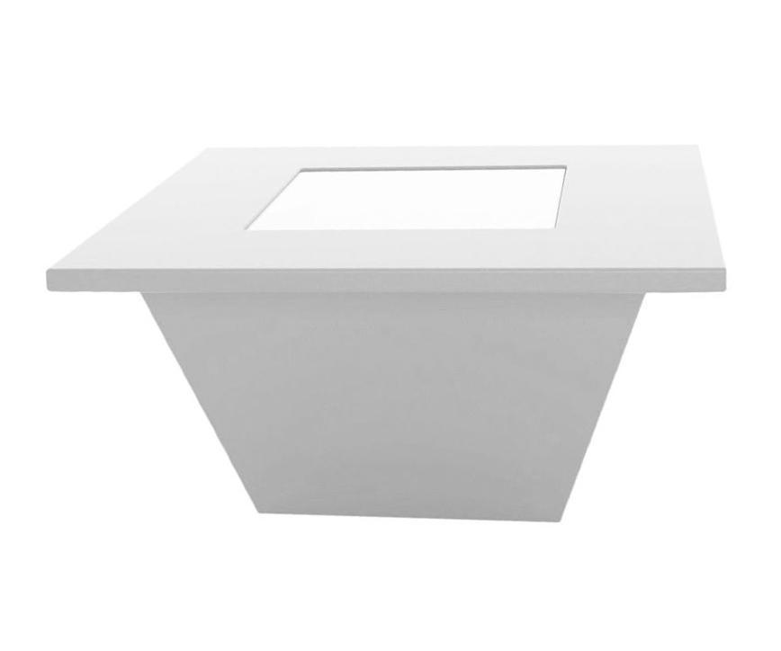 Стол/пуф журнальный пластиковый светящийся Bench Table Lighting