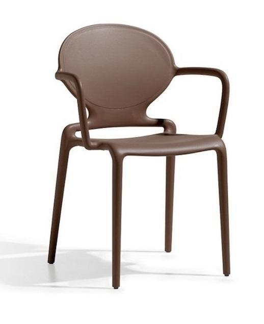 Кресло пластиковое Gio with armrests
