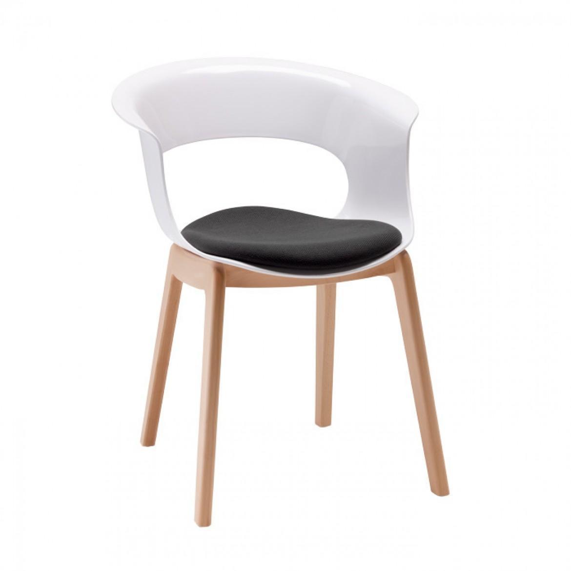Кресло пластиковое с подушкой Natural Miss B Antishock with cushion
