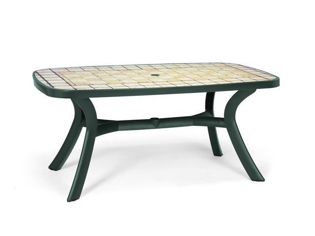 Стол пластиковый обеденный Toscana 165 с мозаикой Siena
