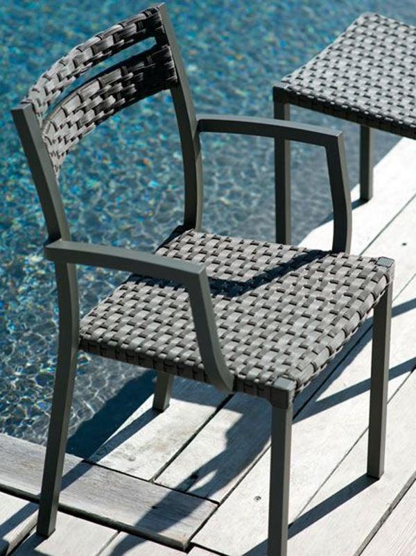 Кресло плетеное металлическое Infinity