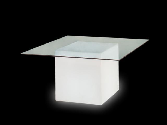 Стол пластиковый светящийся Square Lighting