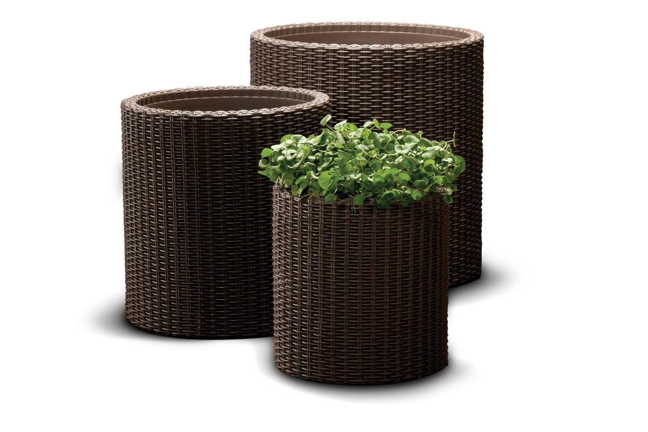 Набор пластиковых кашпо Cylinder Planters