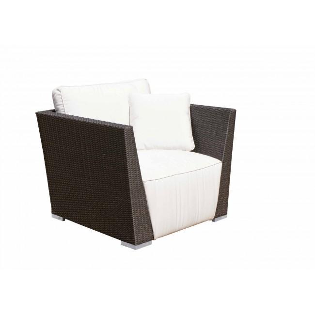 Кресло плетеное с подушкой Milunas
