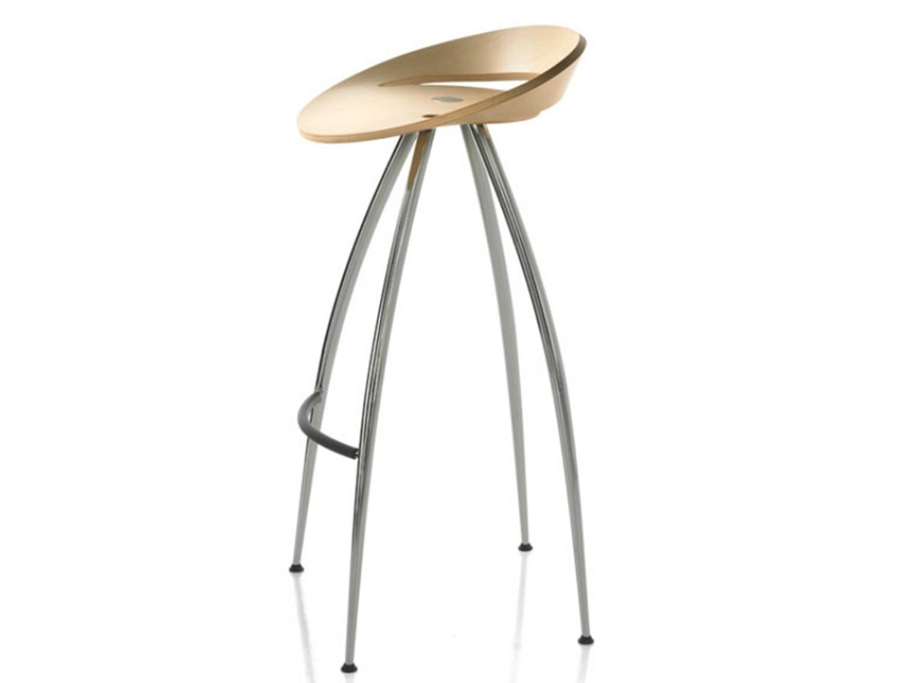 Барный деревянный стул Lyra