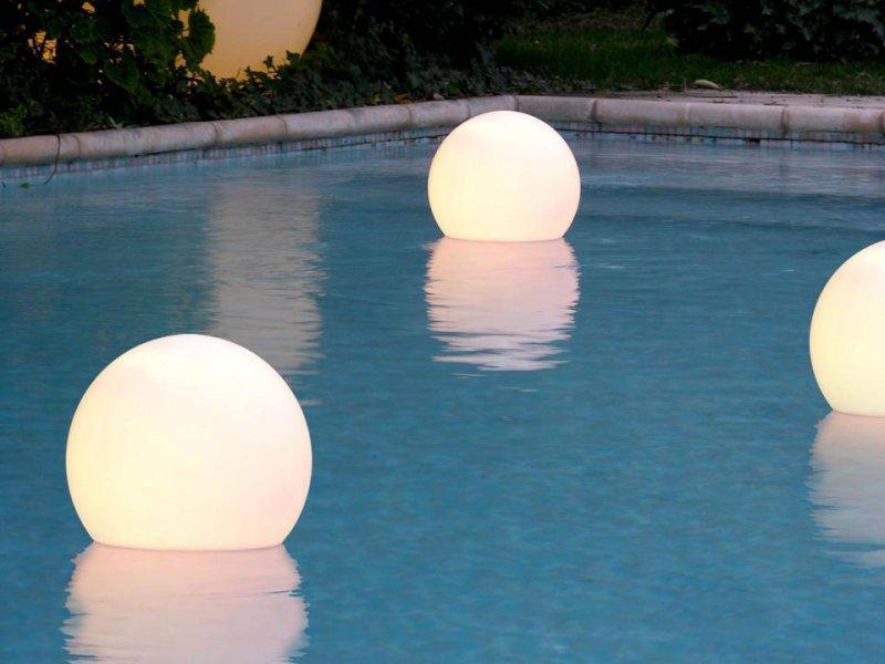 Пластиковый плавающий светильник, Acquaglobo, 400 мм