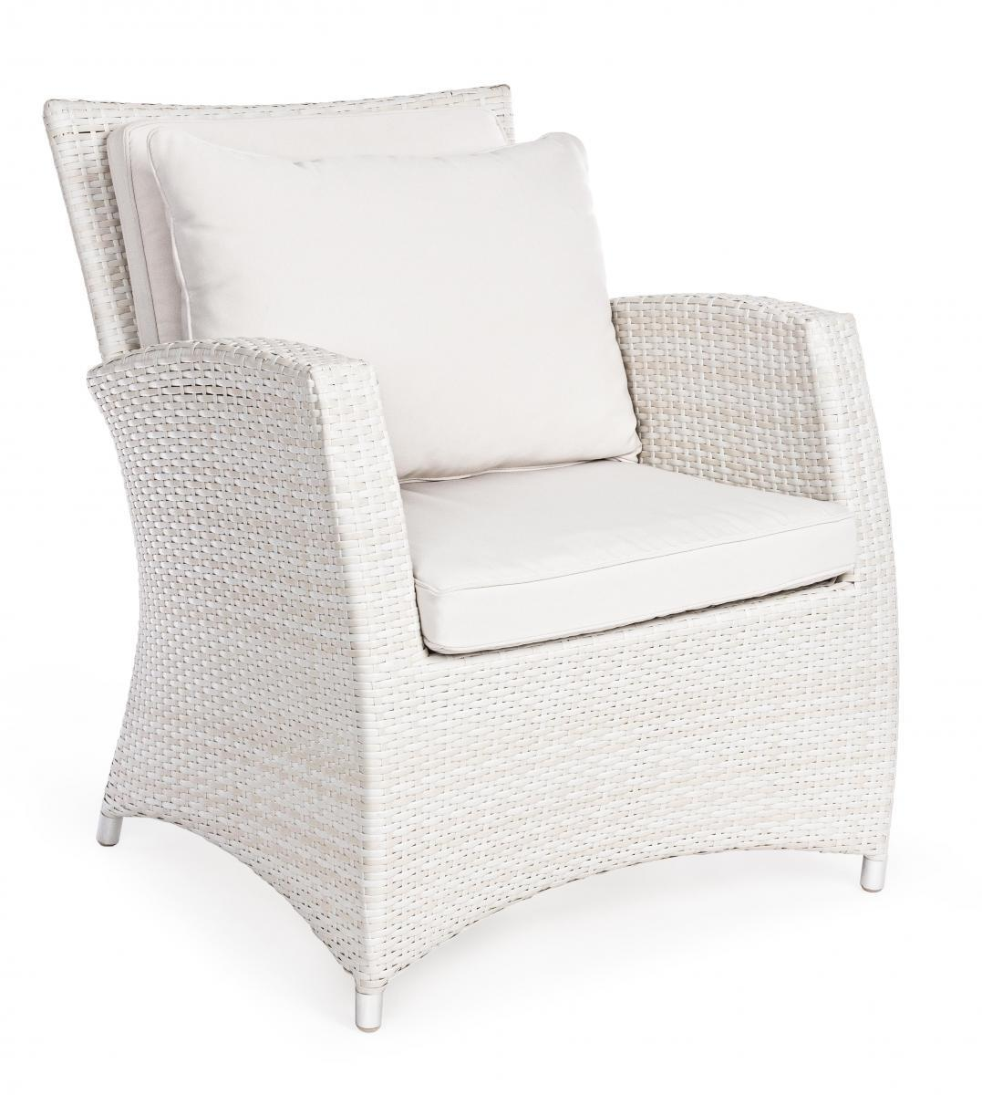 Кресло плетеное с подушками Clipper