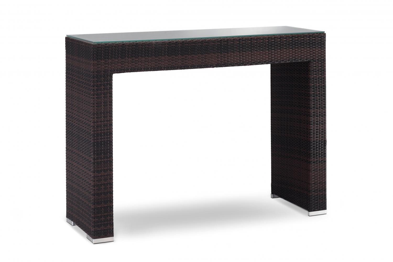 Стол плетеный со стеклом барный GT 915