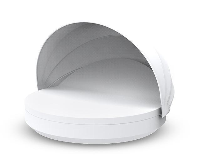 Лежак пластиковый с козырьком Vela 1 reclining backrest round with folding sunroof Basic