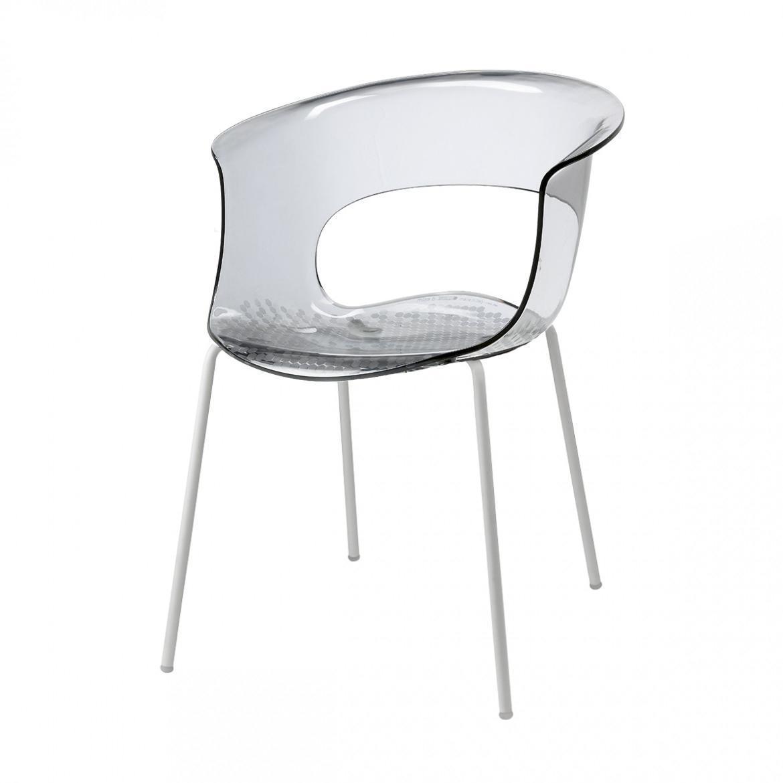 Кресло прозрачное Miss B Antishock coated frame
