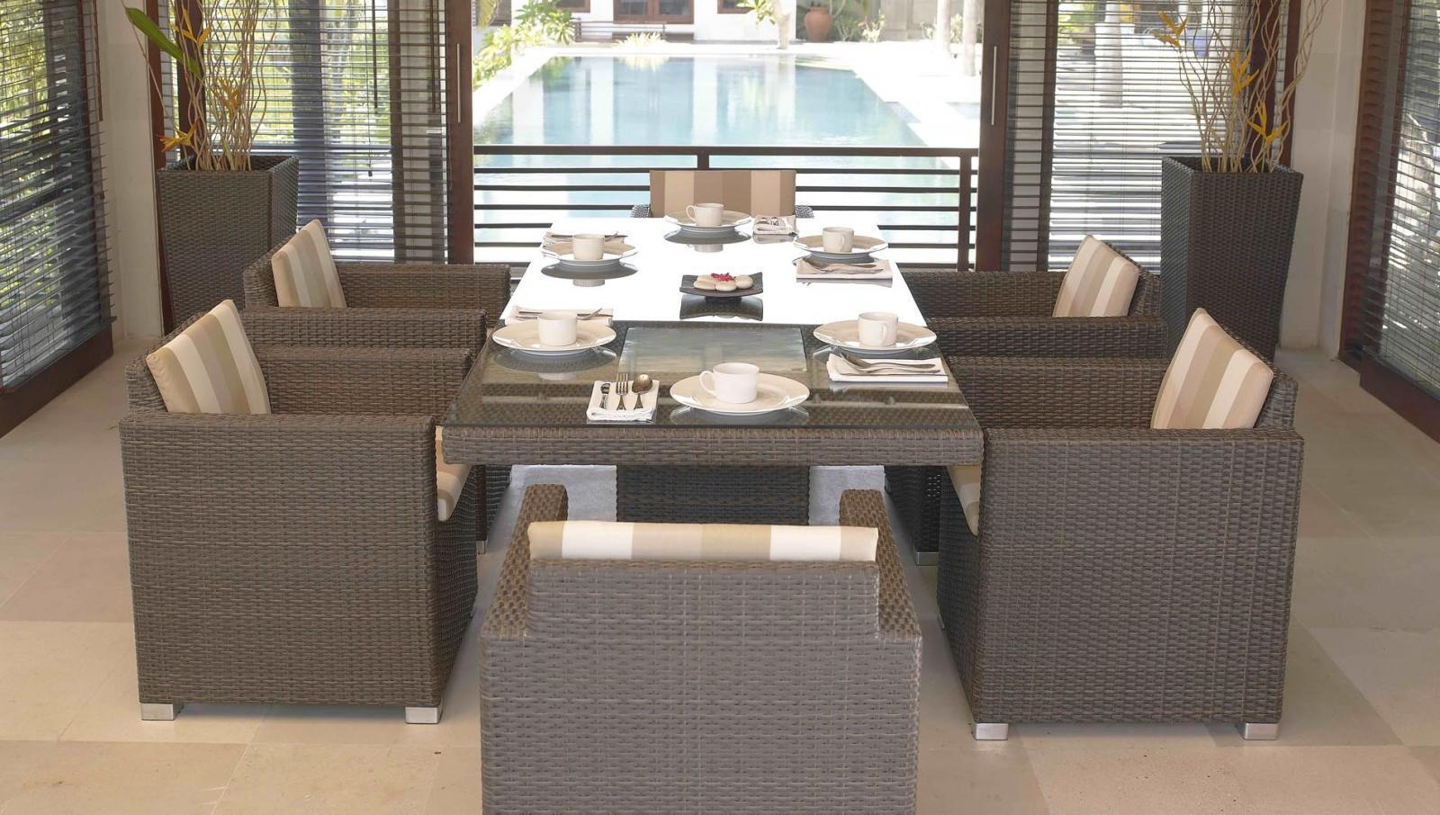 Комплект плетеной мебели на 6 персон Pacific