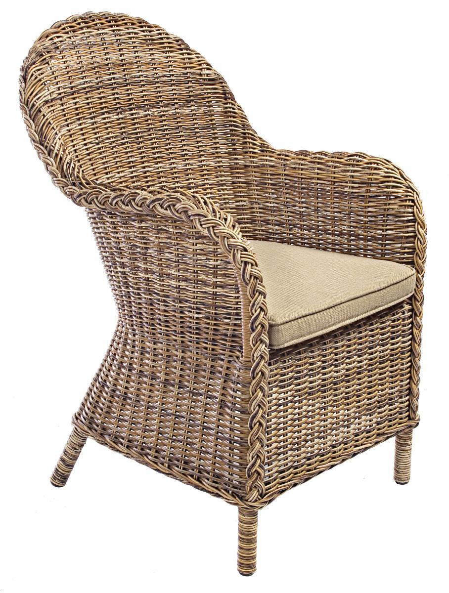 Кресло плетеное с подушкой Shiva