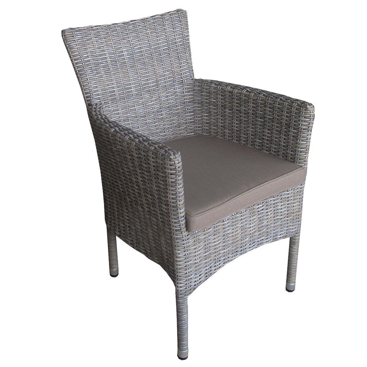 Кресло плетеное с подушкой Capri