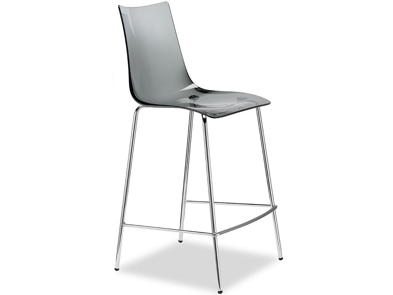 Полубарный прозрачный стул Zebra Antishock Barstool