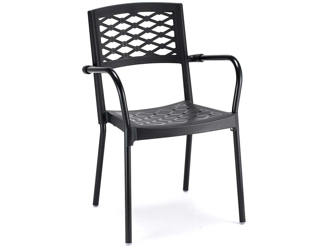 Кресло пластиковое Lula coated aluminium frame