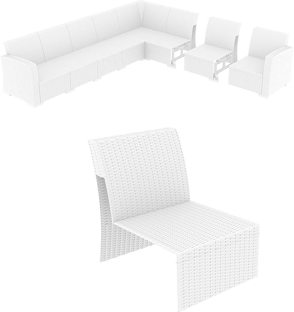 Пластиковая плетеная расширяющая часть Monaco Lounge Extension Part