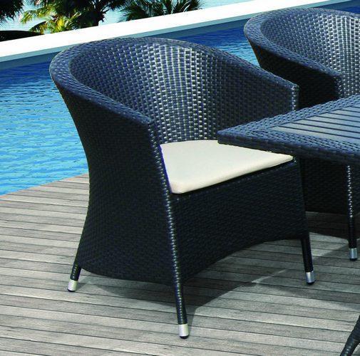 Кресло плетеное с подушками Ibiza