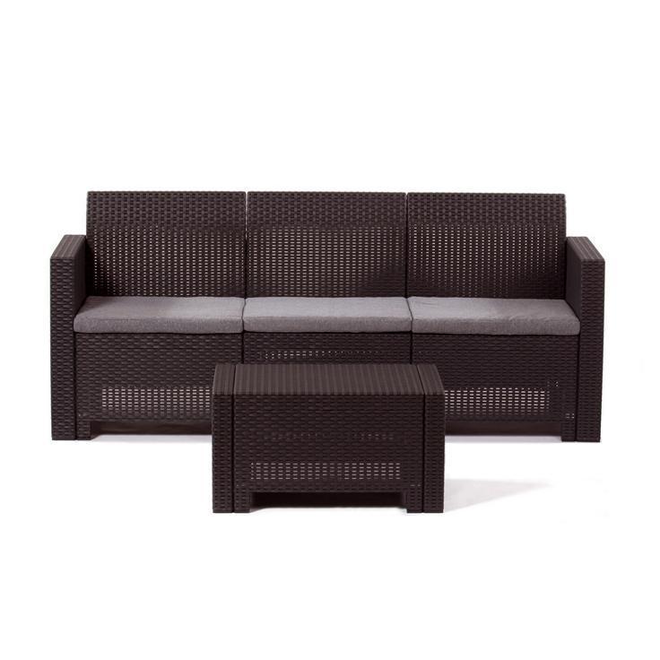 Диван пластиковый трехместный Nebraska Sofa 3